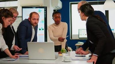 International Business Team Talking to African Woman Mentor
