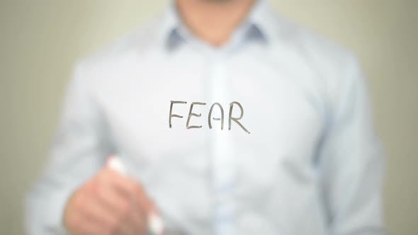 Thumbnail for No Fear, Businessman Writing on Transparent Screen