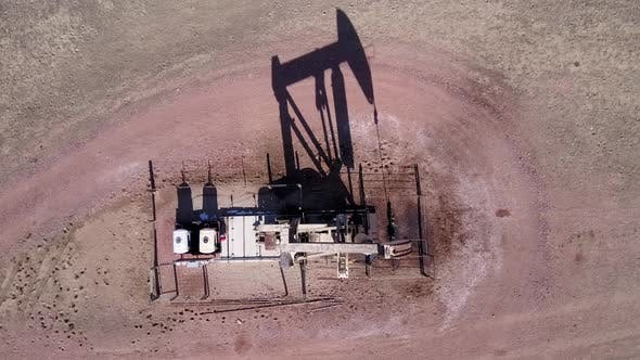 Thumbnail for Land Use Gillette in Spring Pumpjack Pump Jack Well Drill Gas Oil Extraction Shadow Pad