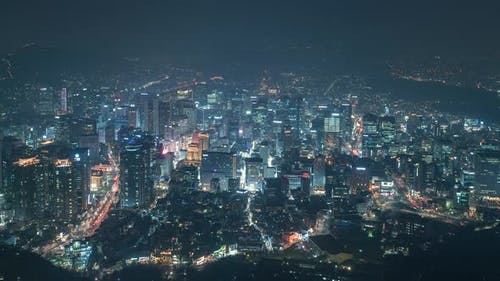 The Heart of Seoul at Night