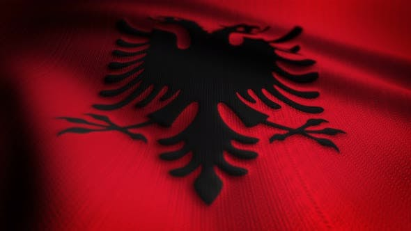 Thumbnail for Albania Flag Seamless Loop