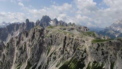 Mountain peaks in Dolomites, Italy, Europe