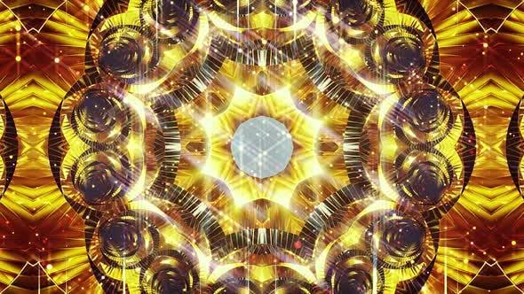 Glittery Gold Mosaic Background