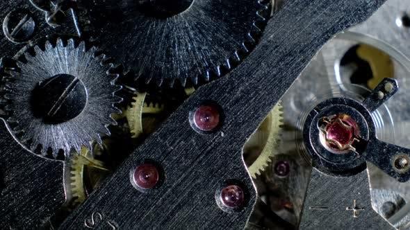 Thumbnail for Watch Mechanism Macro loop.Old Vintage Clock Mechanism Working