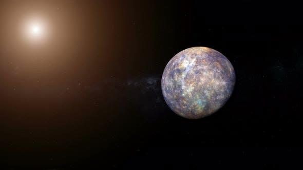 Thumbnail for 4K Planet Merkur und Sonne
