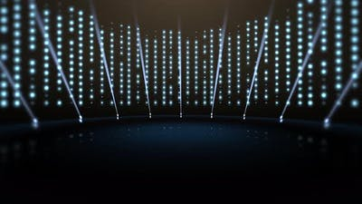 Motion blue lights and stage, abstract background