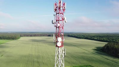Aerial Communication Tower in Rural Areas