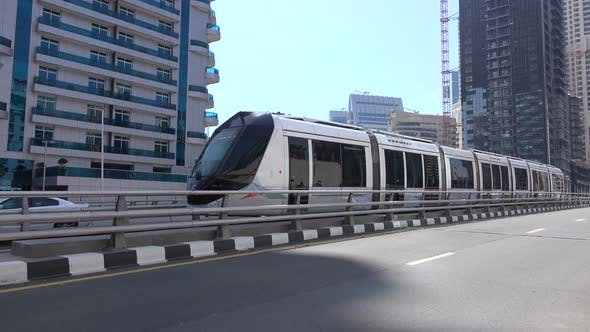 Thumbnail for Modern Tram in the City