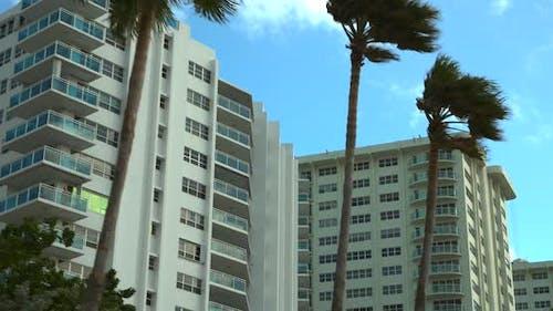 Motion video condominiums with palm trees Galt Ocean Mile Florida