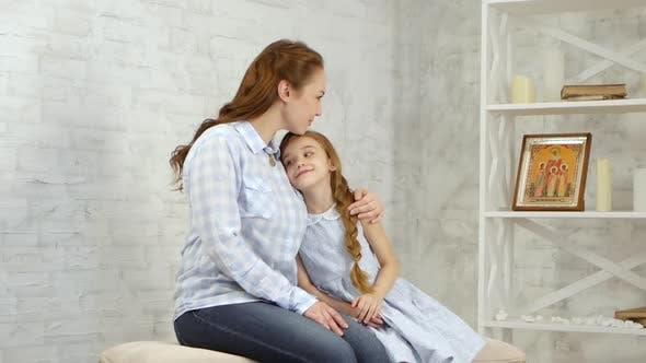 Thumbnail for Tender Embraces the Girl Hugs the Child