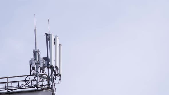 Thumbnail for Mobile Phone Communication Tower on Building Roof
