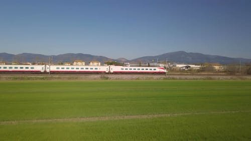 White Train is Passing Over the Lawn