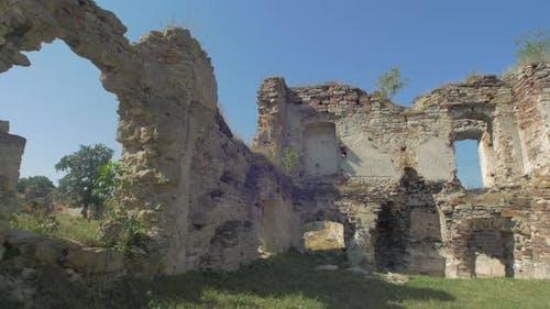 Damaged brick walls