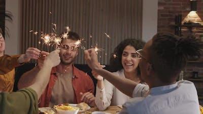 Diverse Happy People Having Celebration