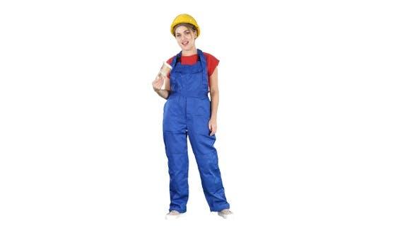 Thumbnail for Junge Handwerker Frau halten viel Geld mit ihnen als Fan