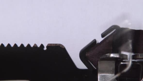 Thumbnail for Businessman Writes the Word Start Up on the Sheet of a Typewriter. Close Up
