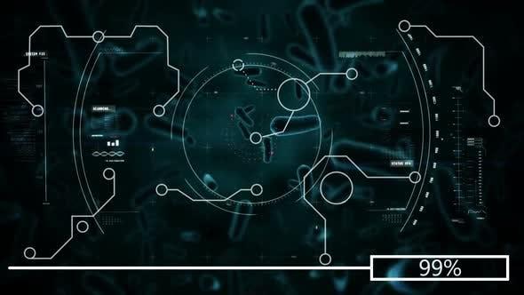 Virus analysed by computer 4k
