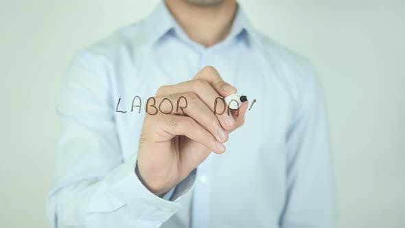 Thumbnail for Labor Day, Writing On Screen