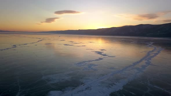 Thumbnail for Elenka Island on Lake Baikal in Winter. Aerial View