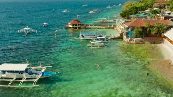 Thumbnail for The Coast of the Island of Cebu, Moalboal, Philippines