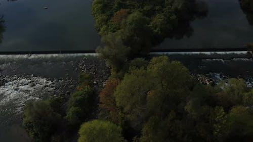 Maritsa River Around Village Brob In Bulgaria