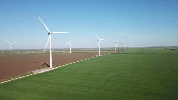 Thumbnail for Wind Power Station on The Field. Concept and Idea of Alternative Energy Development.