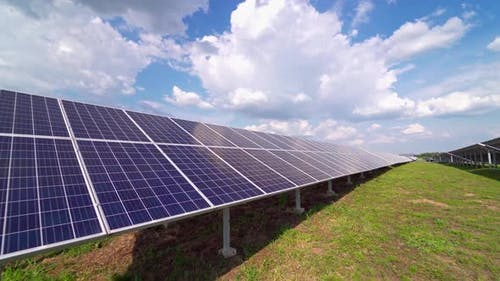 Solar panels produce electricity from the sun. Clean technology for better future.