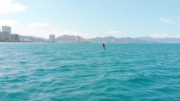 Kitesurfing Place Sports Concept Healthy Lifestyle Human Flight