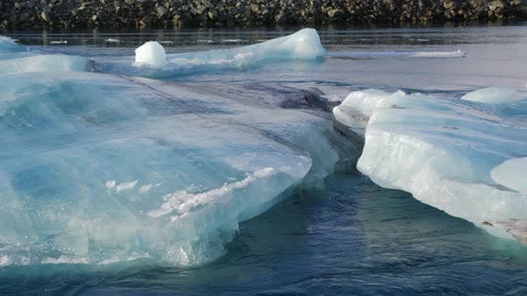 Thumbnail for Iceland View Of Beautiful Glacier Lagoon In Winter With Iceberg 4