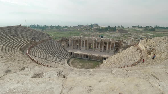 Cover Image for Amphitheatre in Ancient City Hierapolis. Pamukkale, Turkey