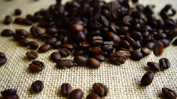 Thumbnail for Coffee Beans Falling on the Sack 2