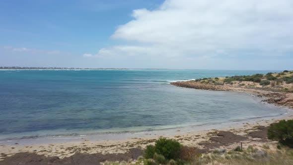 Aerial footage of the Great Australian Bight in regional Australia