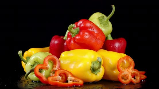 Thumbnail for Various Colors of Sweet Peppers Slowly Rotate
