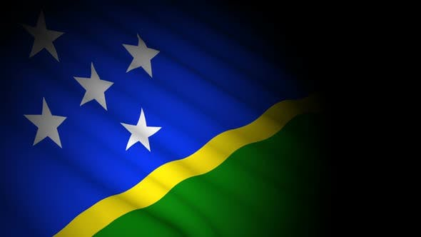 Cover Image for Solomon Islands Flag Blowing in Wind