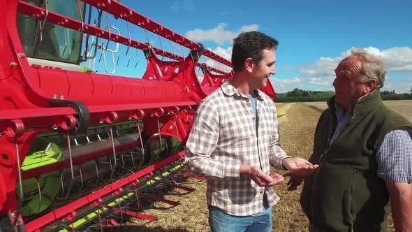 Thumbnail for Farmers talking in field