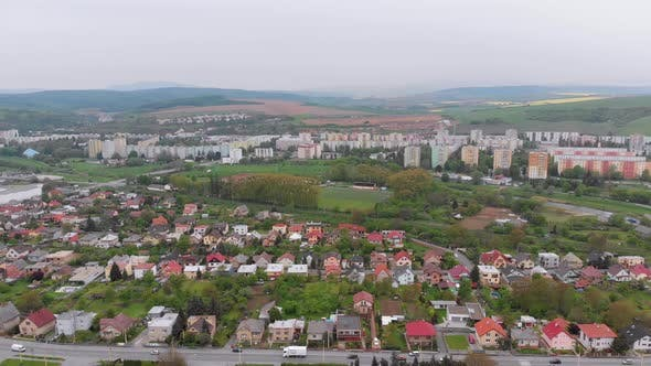 Thumbnail for Aerial Drone View of the City of Presov, Slovakia. Landscape View of the Countryside in Europe
