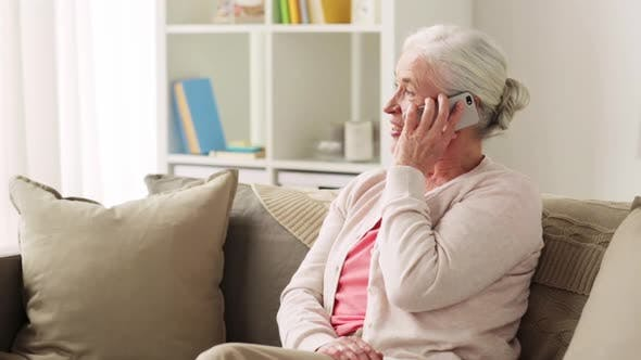 Thumbnail for Senior Woman with Smartphone Calling at Home