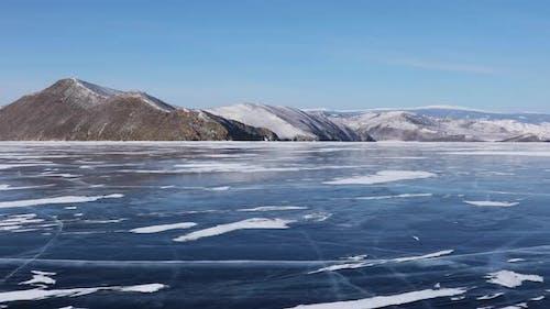 Amazing Landscape of Lake Baikal on a Frosty Winter Day