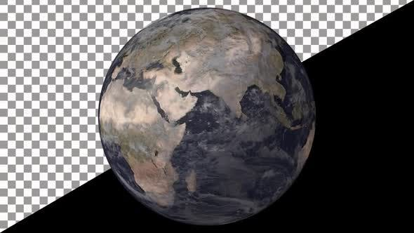 Earth Globe Rotate 4K Resolution - With Alpha