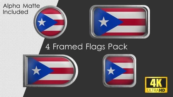 Thumbnail for Framed Puerto Rico Flag Pack