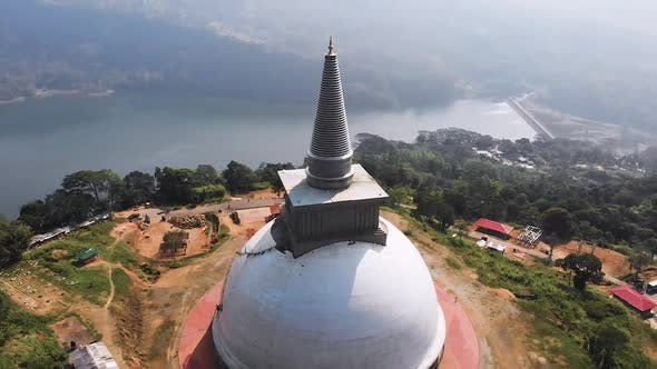 Thumbnail for Buddhist Temple in Srilanka, Aerial Footage