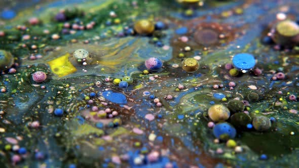 Thumbnail for Abstract Colorful Acrylic And Food Paint Bubbles On Water  38