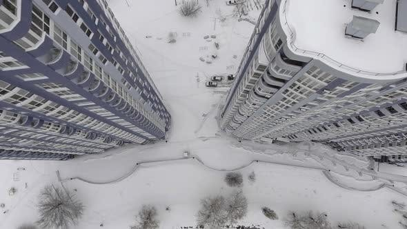 Thumbnail for Taking the Building From the Air Overhead View.