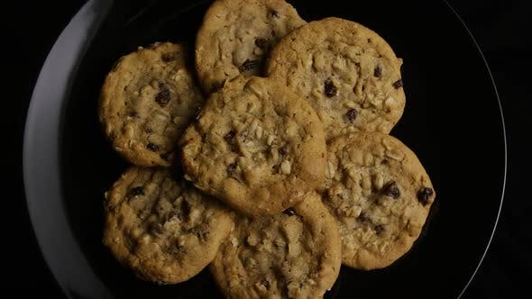 Thumbnail for Cinematic, Rotating Shot of Cookies on a Plate