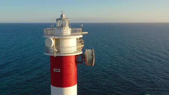 Thumbnail for View From the Height on the Lighthouse Closeup. Ocean on the Background. Lighthouse Faro De Rasca