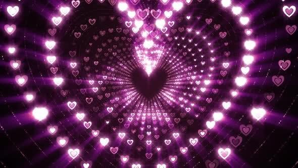 Glitzernde Herzen