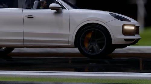 White Sports SUV