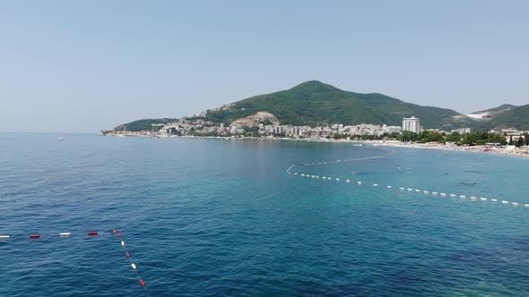 Thumbnail for View of Coastline of Budva City, Montenegro. Balkans, Adriatic Sea, Europe