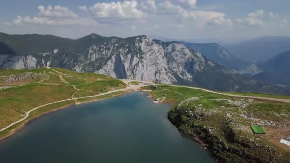 Cover Image for Aerial View of Augstsee Lake on Loser Mountain, Austria