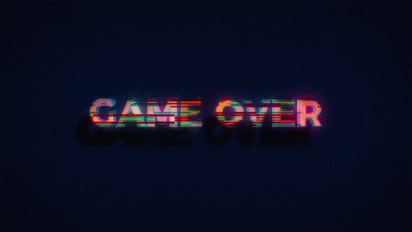 Thumbnail for Game Over Generated with Glitch Effect